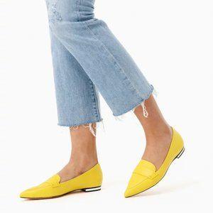 SCHUTZ Elise Pointed Flat Yellow